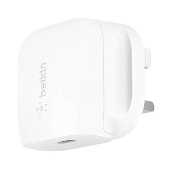 Belkin USB C 20W Wall Charger UK - White