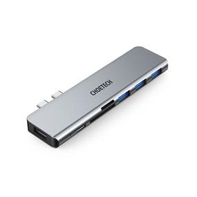 Choetech 7-in-2 USB-C Hub - Grey